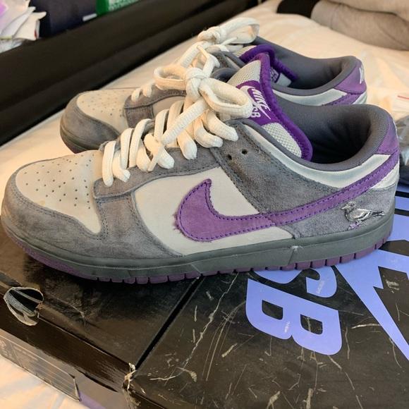 Nike Dunk Low Pro Sb Purple Pigeons